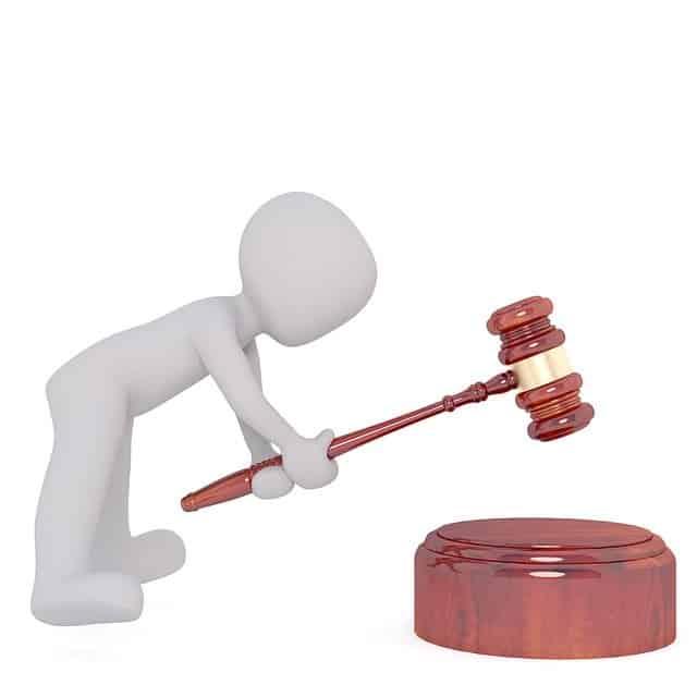 אנימציה פטיש בית משפט