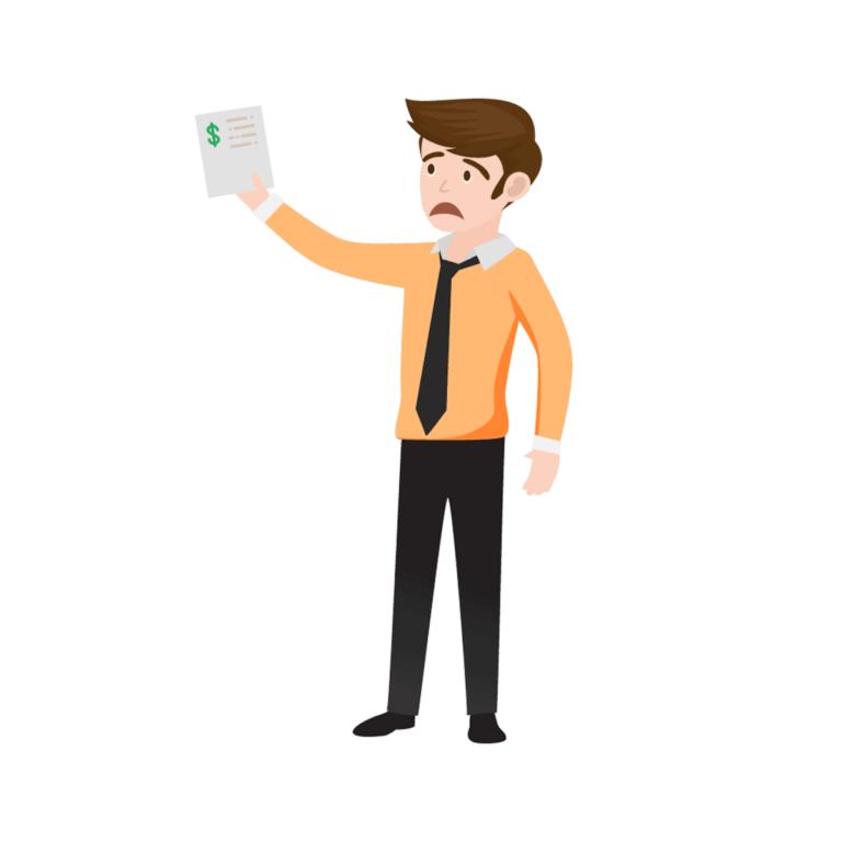 אנימציה - עובד מדינה עם אישור הלוואה